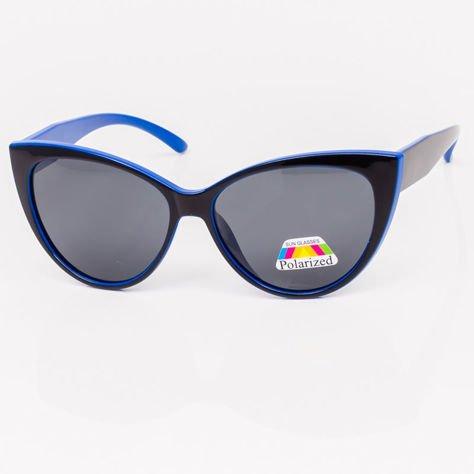 Czarno-Niebieskie Damskie Okulary POLARYZACYJNE CAT EYE                              zdj.                              2