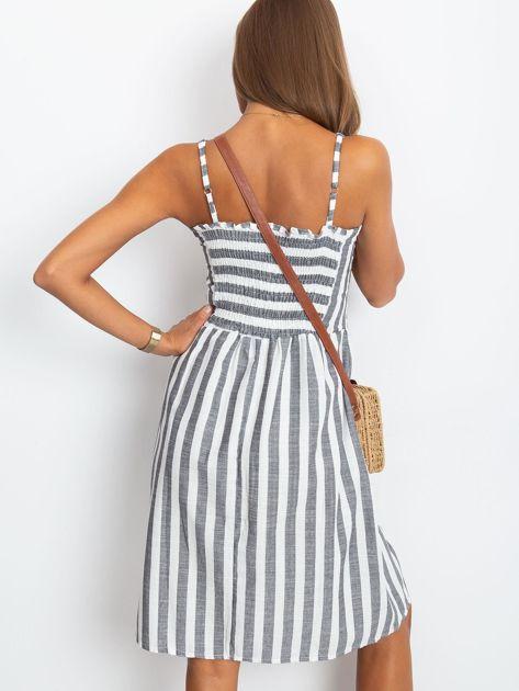 Czarno-biała sukienka Sartorial                              zdj.                              2