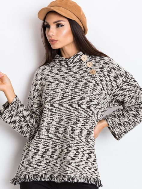 Czarno-biały sweter North                              zdj.                              1