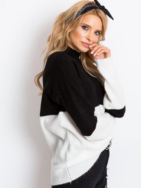 Czarno-biały sweter Taylor                              zdj.                              3