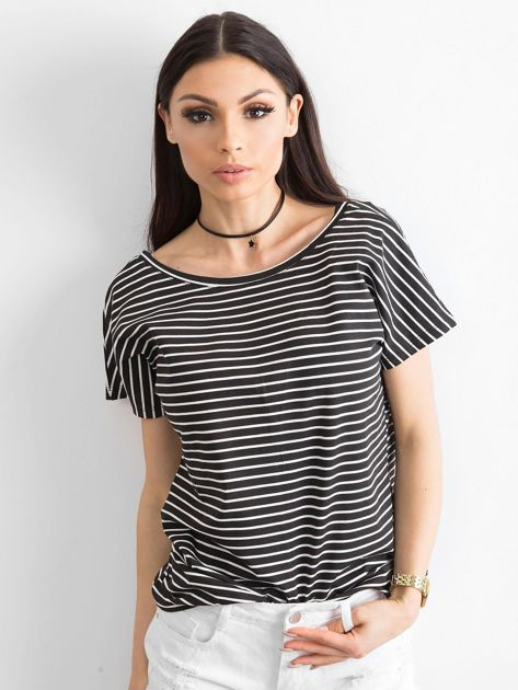 Czarno-biały t-shirt Morning                              zdj.                              1