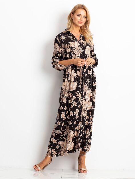 Czarno-brązowa sukienka Temple                              zdj.                              1