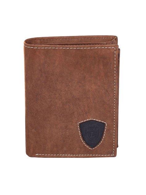 Czarno-brązowy portfel dla mężczyzny ze skóry                              zdj.                              1