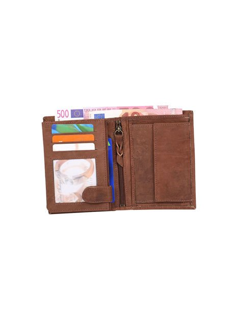 Czarno-brązowy portfel dla mężczyzny ze skóry                              zdj.                              3