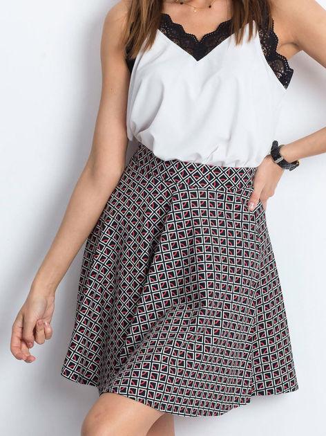 Czarno-czerwona spódnica Shiny                              zdj.                              1