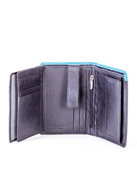 Czarno-niebieski portfel męski ze skóry                              zdj.                              6