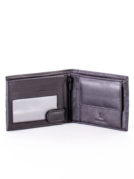 Czarno-niebieski portfel ze skóry naturalnej                               zdj.                              4