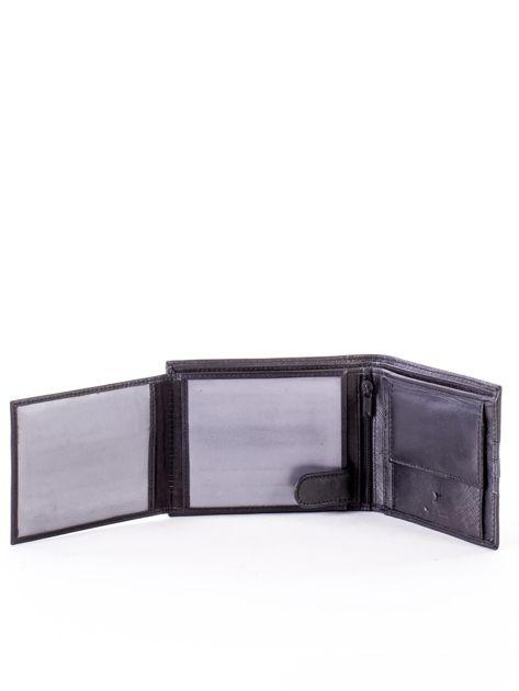 Czarno-niebieski portfel ze skóry naturalnej                               zdj.                              5