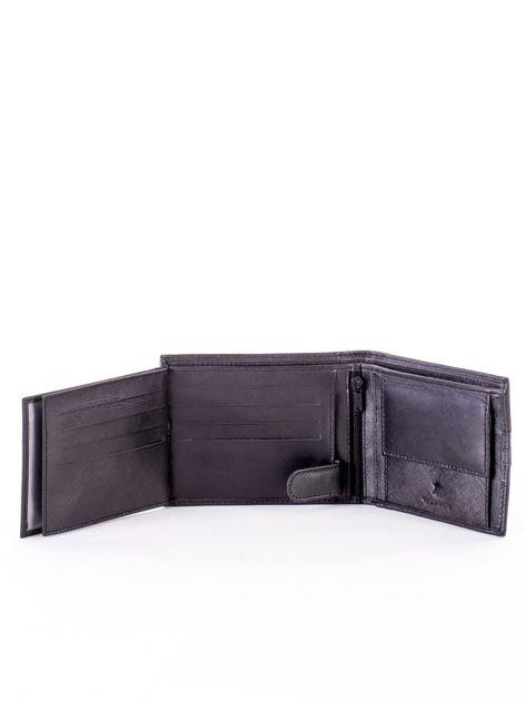 Czarno-niebieski portfel ze skóry naturalnej                               zdj.                              6