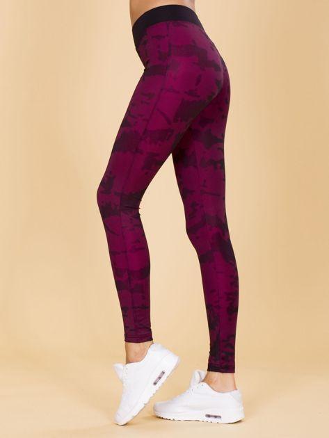 Czarno-różowe legginsy moro                              zdj.                              2