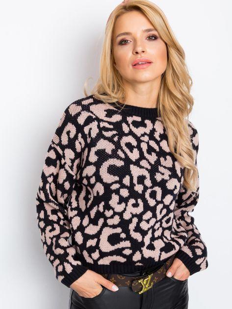 Czarno-różowy sweter Candy                              zdj.                              6