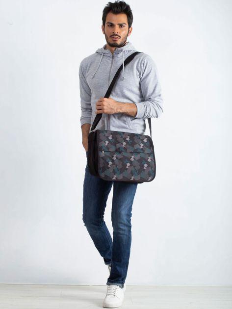 Czarno-szara męska torba                              zdj.                              4