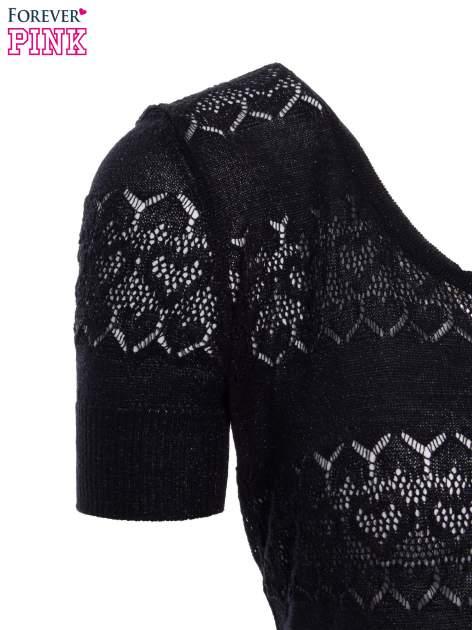 Czarny ażurowy sweterek w stylu retro                                  zdj.                                  6