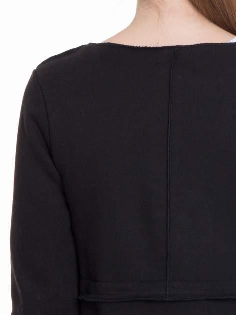 Czarny dresowy bluzopłaszczyk o pudełkowym kroju                                  zdj.                                  8