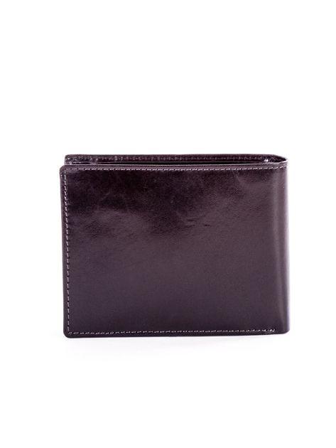 Czarny elegancki skórzany portfel męski                               zdj.                              2