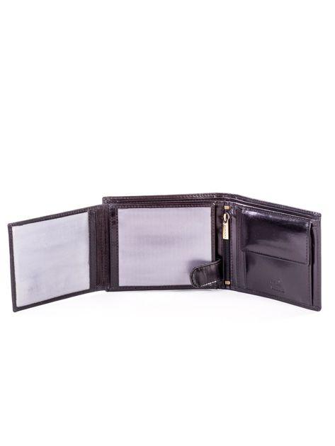 Czarny elegancki skórzany portfel męski                               zdj.                              5