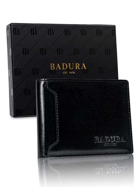 Czarny mały portfel męski BADURA