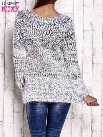 Czarny melanżowy sweter long hair                                  zdj.                                  4