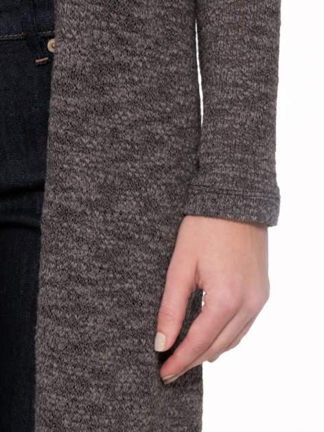 Czarny melanżowy sweter typu długi kardigan                                  zdj.                                  7