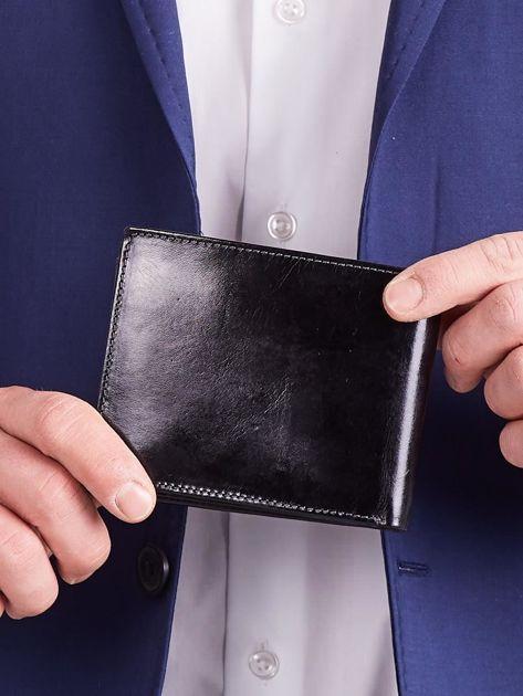 Czarny męski portfel poziomy                              zdj.                              4