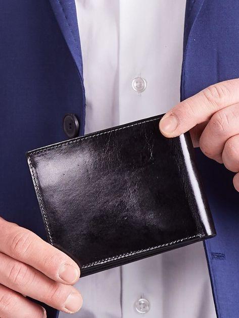 Czarny męski portfel poziomy                              zdj.                              5