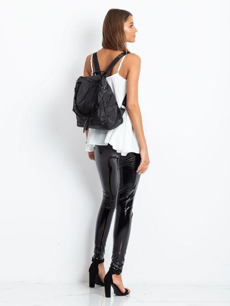 Czarny miękki plecak torba                               zdj.                              5