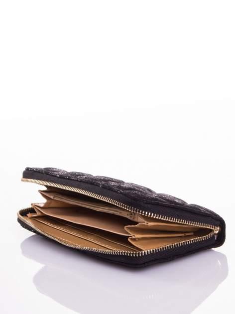 Czarny pikowany portfel                                  zdj.                                  3