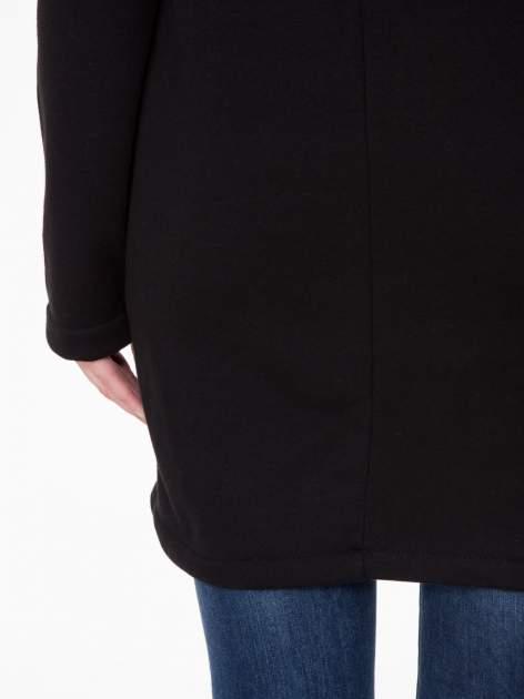 Czarny płaszcz dresowy z asymetrycznymi bokami                                  zdj.                                  10