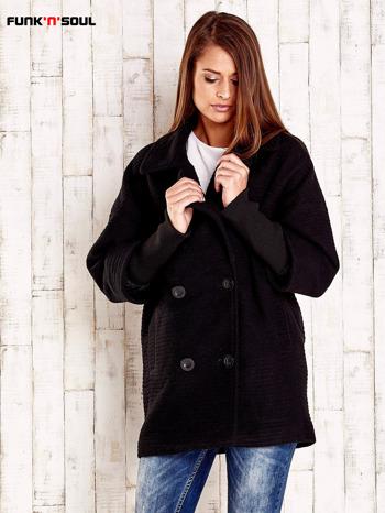 Czarny płaszcz oversize FUNK N SOUL                                  zdj.                                  1