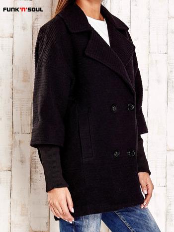 Czarny płaszcz oversize FUNK N SOUL                                  zdj.                                  3