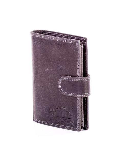 Czarny portfel dla mężczyzny skórzany                              zdj.                              3
