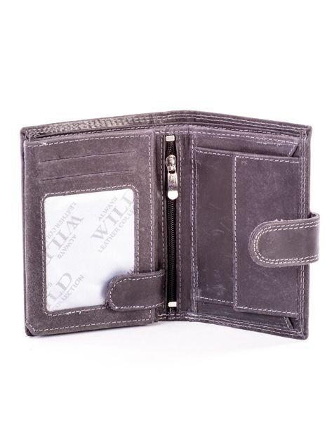 Czarny portfel dla mężczyzny skórzany                              zdj.                              4