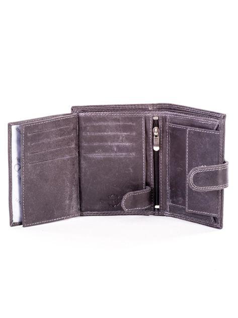 Czarny portfel dla mężczyzny skórzany                              zdj.                              6
