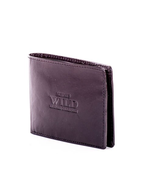 Czarny portfel dla mężczyzny z tłocznym napisem                              zdj.                              3