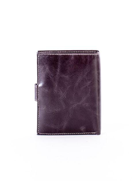 Czarny portfel dla mężczyzny z zapięciem na zatrzask                              zdj.                              2