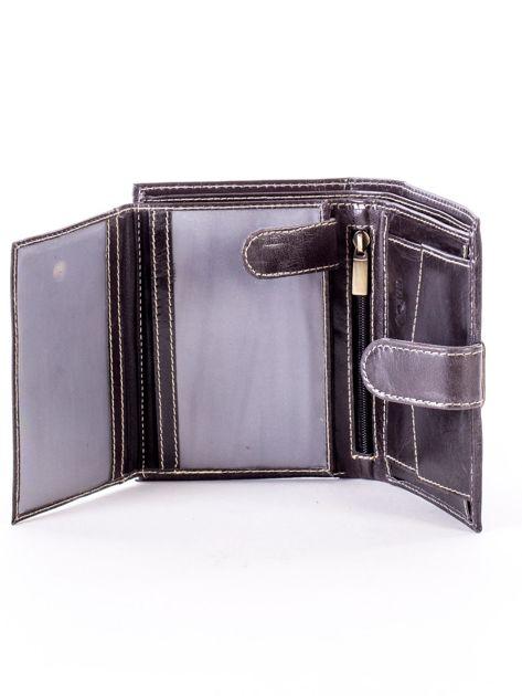 Czarny portfel dla mężczyzny z zapięciem na zatrzask                              zdj.                              5