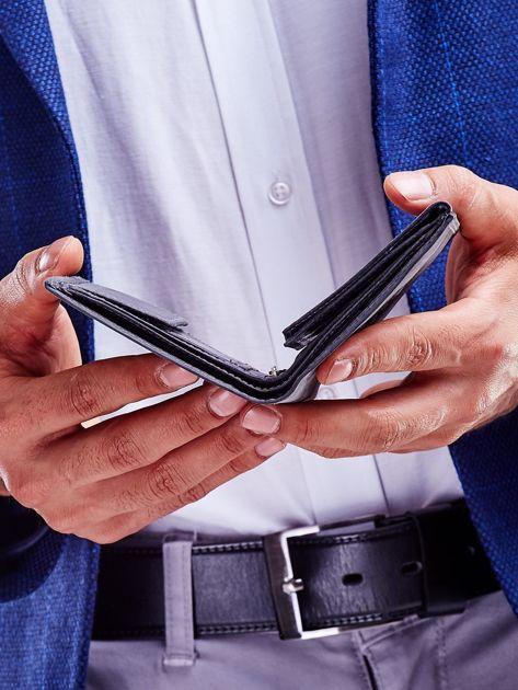 Czarny portfel męski przecierany                              zdj.                              5