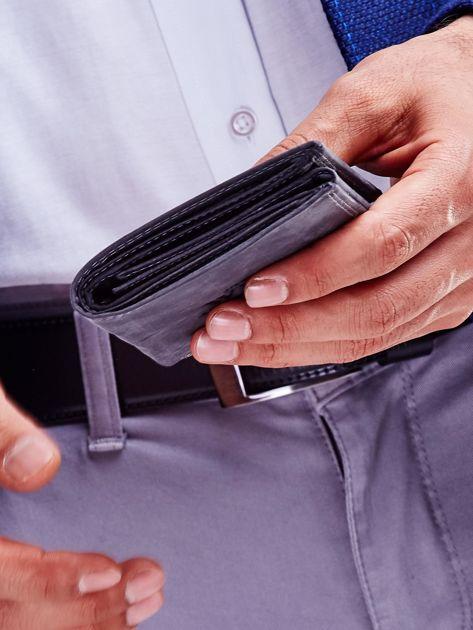 Czarny portfel męski przecierany                              zdj.                              7