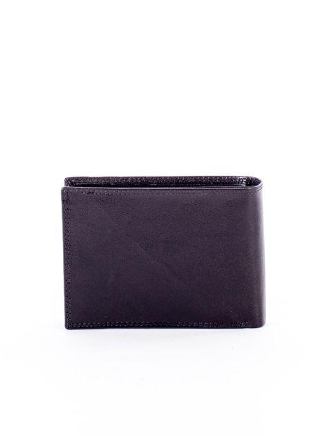 Czarny portfel męski z przetarciami                              zdj.                              2