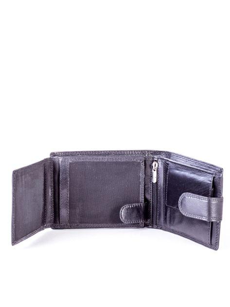 Czarny portfel męski ze skóry naturalnej                               zdj.                              5