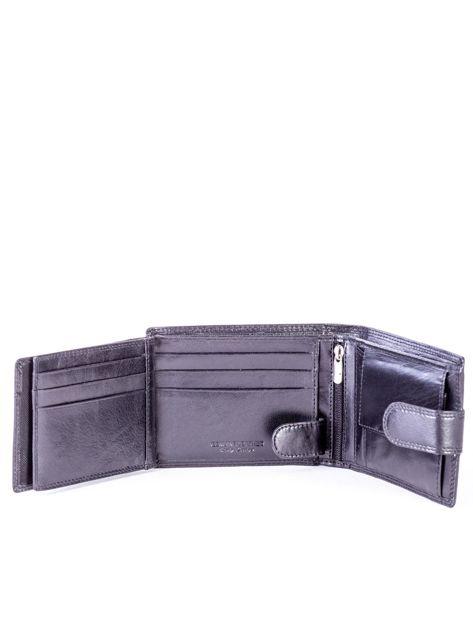 Czarny portfel męski ze skóry naturalnej                               zdj.                              6
