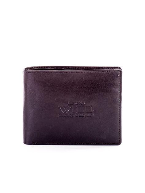 Czarny portfel męski ze skóry z tłoczeniem                              zdj.                              1