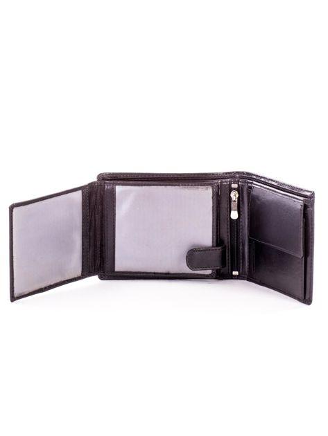 Czarny portfel męski ze skóry z tłoczeniem                              zdj.                              5