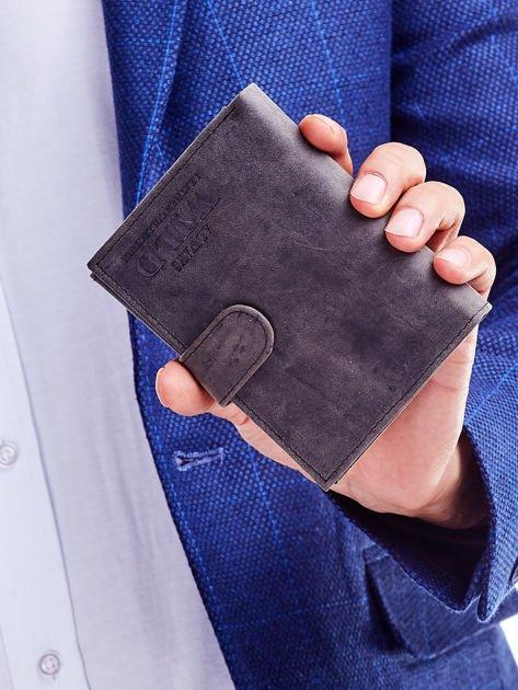 Czarny portfel skórzany dla mężczyzny                               zdj.                              7