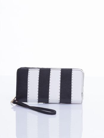 Czarny portfel w paski                                  zdj.                                  1