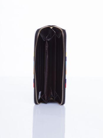 Czarny portfel w paski z kieszonką                                  zdj.                                  4