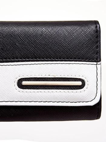 Czarny portfel z białym wykończeniem                                  zdj.                                  6