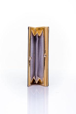 Czarny portfel z biglem efekt saffiano                                   zdj.                                  4