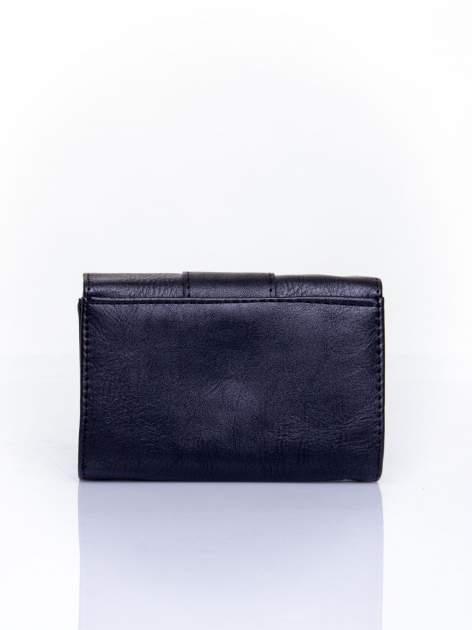 Czarny portfel z ozdobnym zapięciem                                  zdj.                                  2