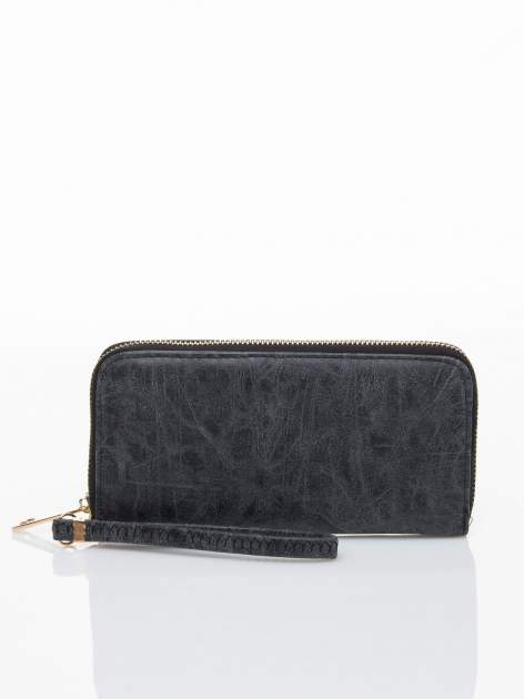 Czarny portfel z rączką